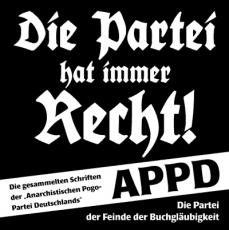 APPD-Buch: Die Partei hat immer recht!