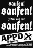 DIN-A1-Poster:  Saufen, saufen, jeden Tag nur saufen! (1998)